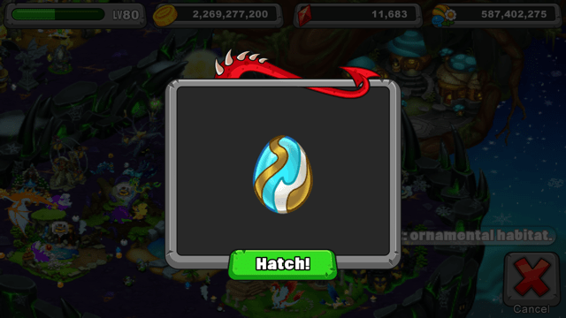 Dragonvale Ribbon Dragon Egg