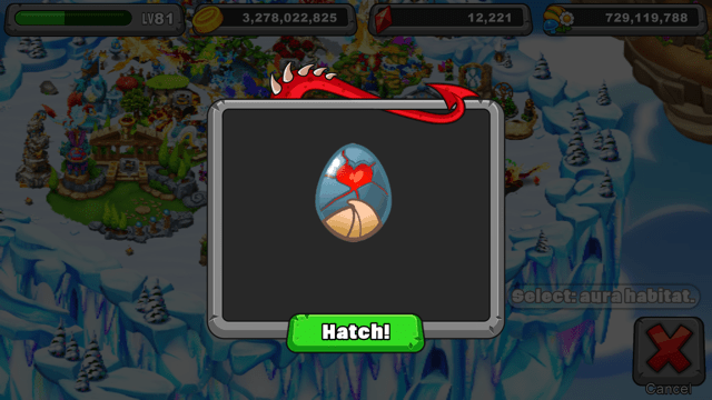 Dragonvale Stoneheart Dragon Egg