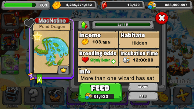 DragonVale Pond Dragon