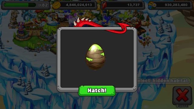 Dragonvale Plateau Dragon egg