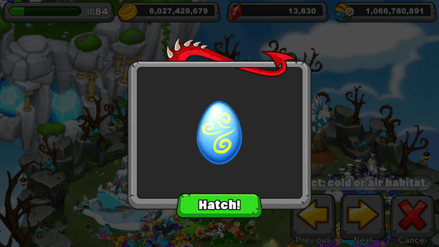 Dragonvale Jetstream Dragon Egg