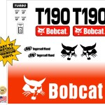 Bobcat T190 replacement decal kit