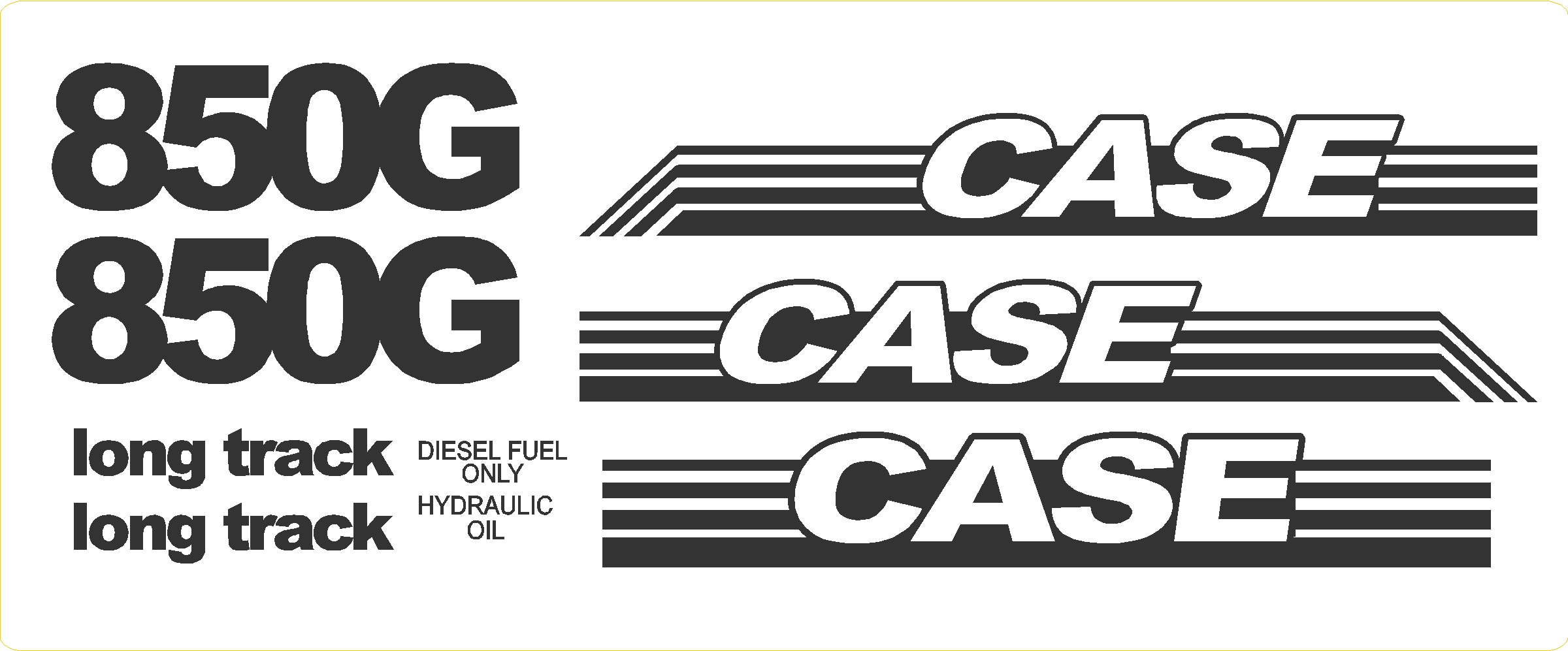 7250 Case Decal Kits : Case g long track new decal kit