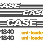 Case 1840 Skid loader new replacement decal sticker kit NS