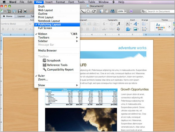 publisher for mac - word for mac