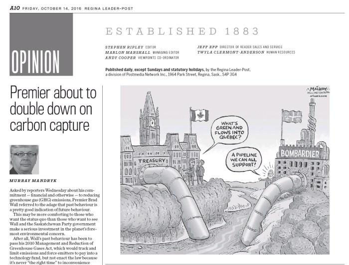 Published in the Leader-Post (Regina, Sask)