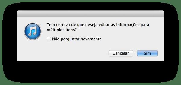 Organizando a biblioteca do iTunes