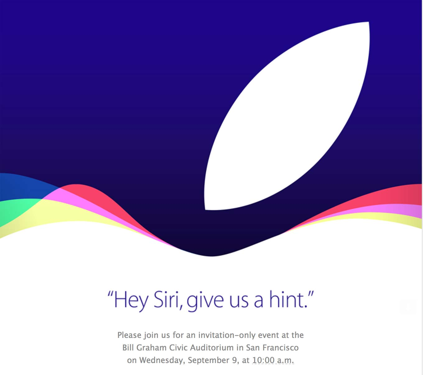 Confirmado: Apple fará evento no dia 9/09
