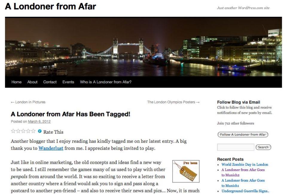 Blog Londoner from afar