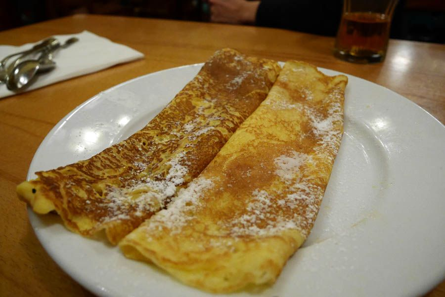 Palatchinken en el restaurante de Viena Bastei-Beisl