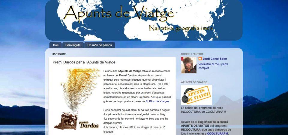 Blog Apunts de Viatge