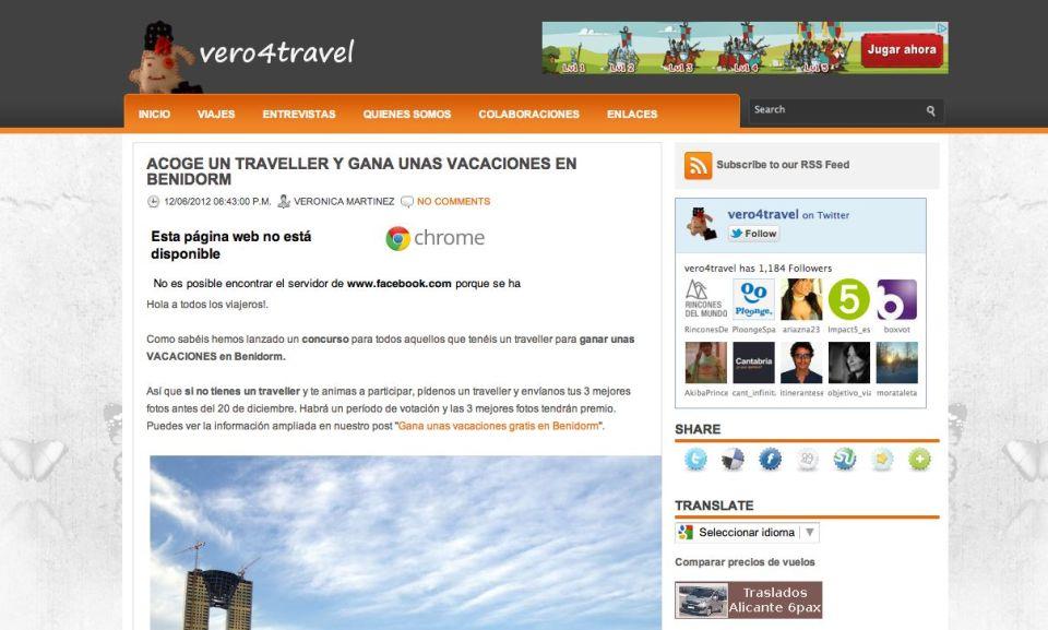 Captura de pantalla Vero 4 Travel