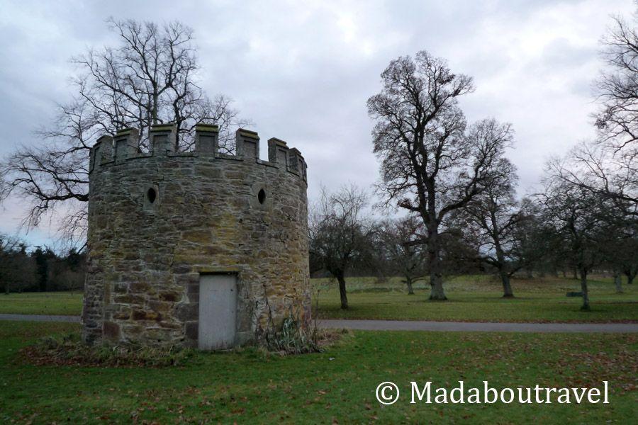 Torre de vigilancia simpática en el castillo de Glamis