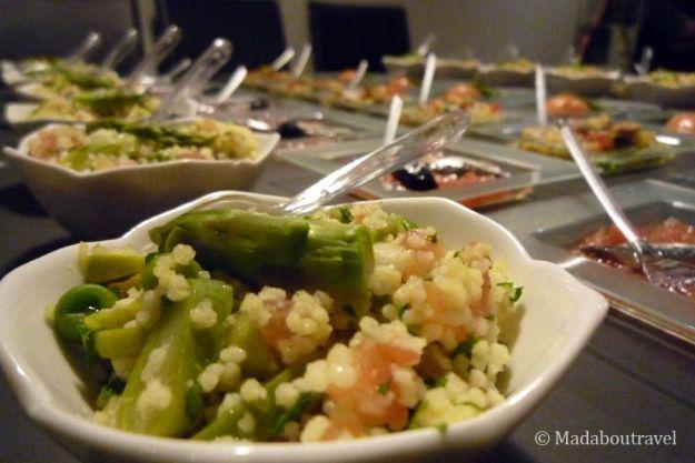 Catering de Catering Hepburn en la Blog Night Out de Aspasios