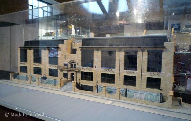 Maqueta de la Escuela de Arte de Glasgow de Charles Rennie Mackintosh