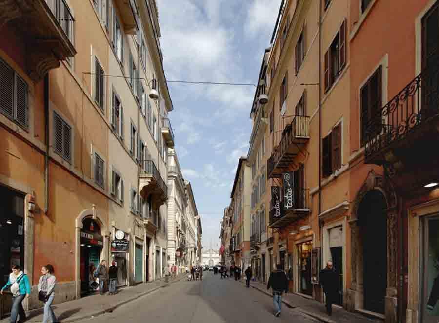Nuestro apartamento estaba en la Via del Corso