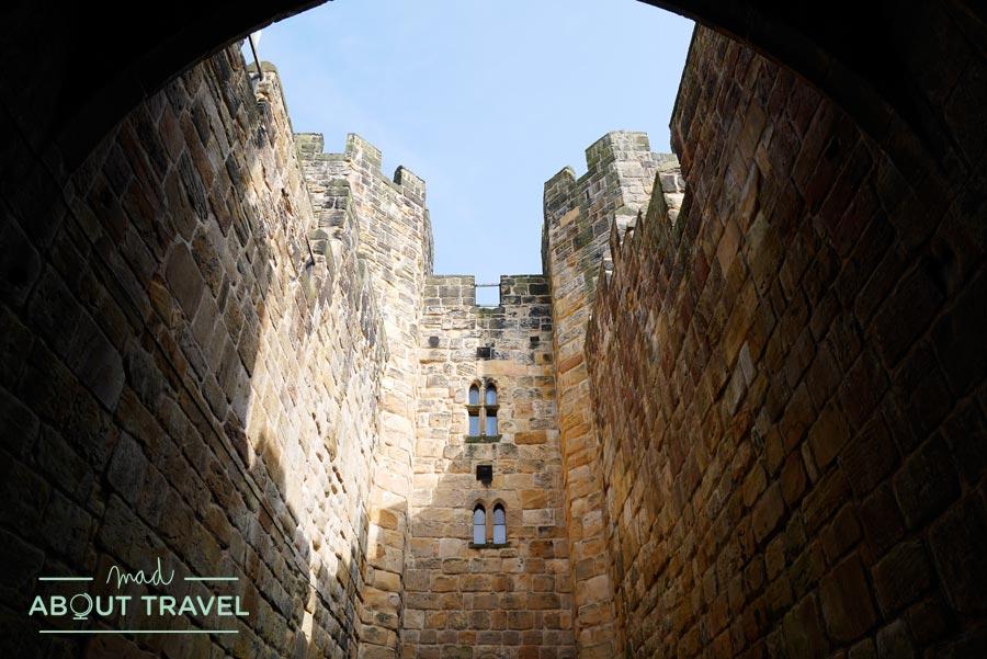 Castillo de Alnwick en el norte de Inglaterra