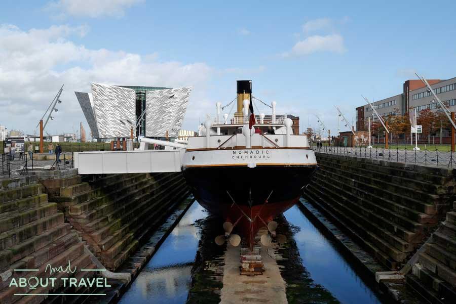 SS Nomadic en el barrio del Titanic de Belfast