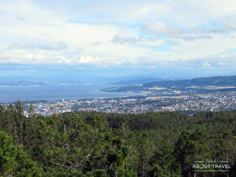 Vistas de Trondheim desde Bymarka