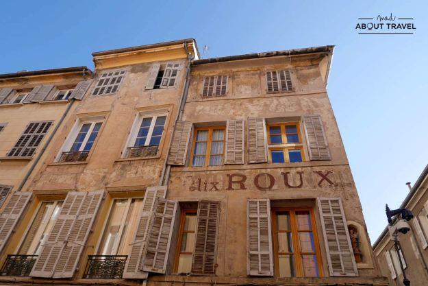 fachadas ocres en Aix-en-Provence