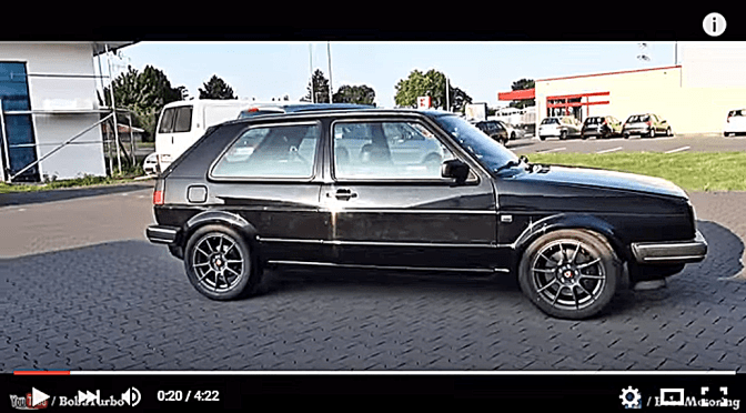 VW Golf met 1233 pk (VIDEO)