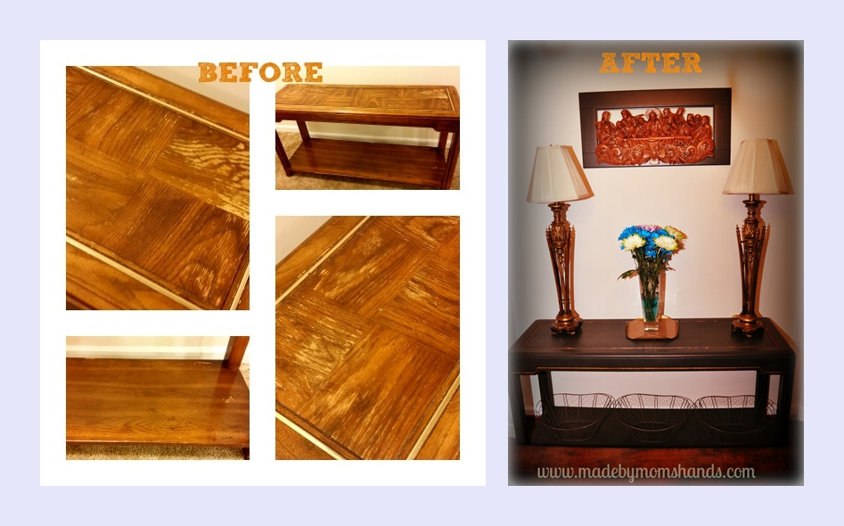 Before and After Console Table