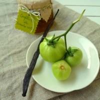 La confiture de tomates vertes à la vanille