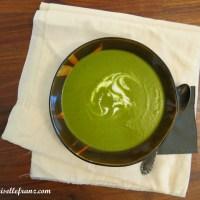 Kochen, nicht weg werfen : Suppe mit Karottengrün und Kokosmilch
