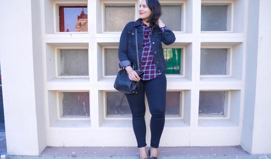 Blouson en jean noir