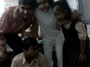 Me with kids at Shri Gurusankalpam