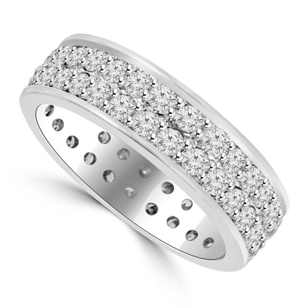 3 40 ct Men's Round Cut Diamond Eternity Wedding Band Ring eternity wedding band 3 40 ct Men s Round Cut Diamond Eternity Wedding Band Ring