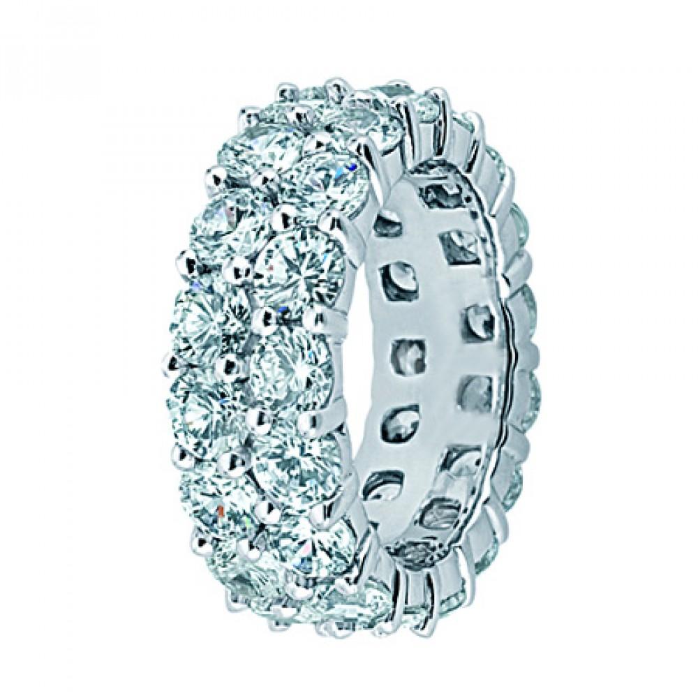 4 50 ct Two Row Diamond Eternity Wedding Band Ring eternity wedding band 4 50 ct Two Row Diamond Eternity Wedding Band Ring