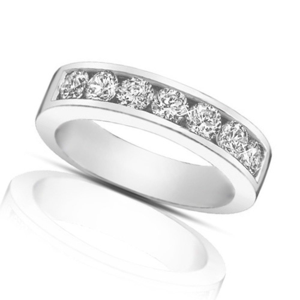 1 25 Ct Round Cut Diamond Wedding Band Ring In Channel Setting wedding band with diamonds 1 25 Ct Round Cut Diamond Wedding Band Ring In Channel Setting