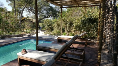 The pool deck © Khwai Tented Camp