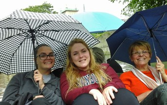 Mrs. Moldenhauer with Lauren and Cate on the River Cam