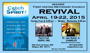 MAGEE FIRST UNITED METHODIST CHURCH REVIVAL @ REVIVAL MAGEE FIRST UNITED METHODIST CHURCH | Magee | Mississippi | United States