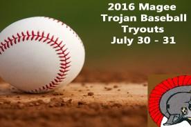 2016 Trojan Baseball Tryouts
