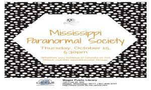 MS Paranormal Society to Meet at Library