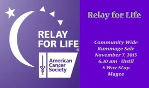 Relay For Life Community Wide Rummage Sale