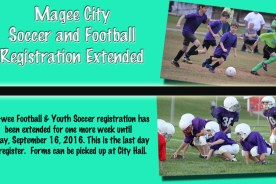 Magee City Football and Soccer Registration Extended