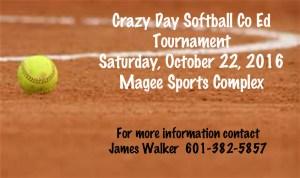 Crazy Day Softball Co Ed Tournament