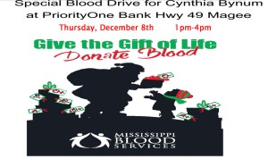Blood Drive For Cynthia Bynum @ BLOOD DRIVE FOR CYNTHIA BYNUM | Magee | Mississippi | United States