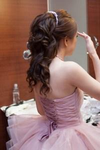 新秘,維多利亞花園婚禮,澎鬆編髮,韓風,