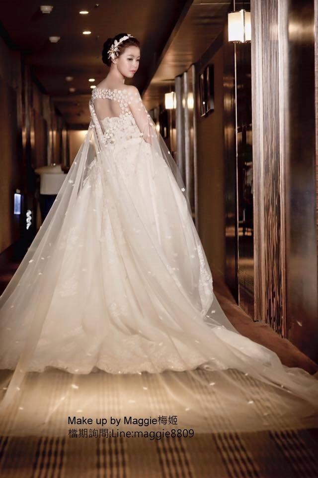 新娘白紗進場長頭紗 (12)