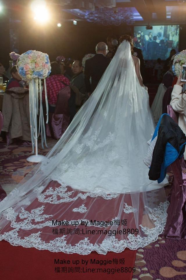 新娘白紗進場長頭紗 (15)