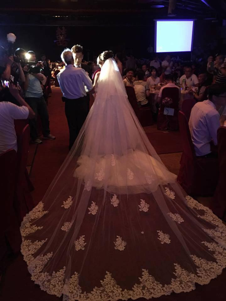 新娘白紗進場長頭紗 (33)