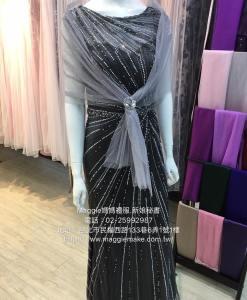 媽媽禮服,水鑽晚禮服,星光閃樣,時尚晚禮服,灰色晚禮服