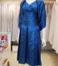 台北媽媽禮服,藍色,V領,短版,小禮服,披肩