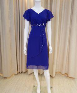 紫色,雪紡紗,V領,荷葉袖,亮鑽,小禮服,披肩
