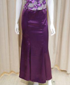 紫色,緞面,亮片,刺繡,圓領,短袖,魚尾裙,長禮服,媽媽禮服,婆婆禮服,主婚人,台北媽媽禮服, ,媽媽裝禮服,媽媽宴客禮服,媽媽晚宴服